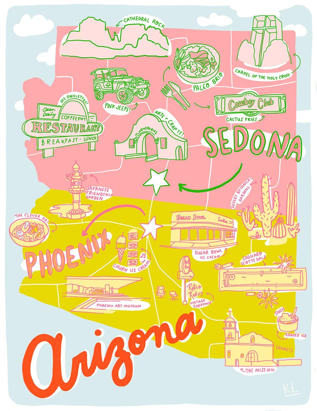 Terrible Printable Arizona Map