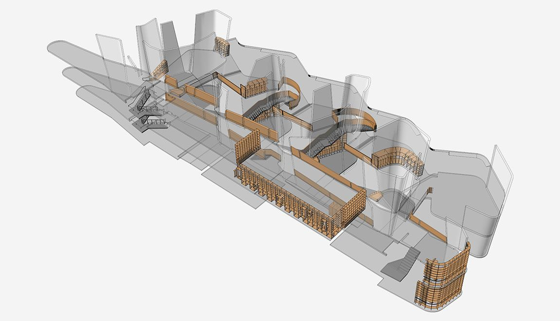 Abedian School Of Architecture, 3d Drawing, CRAB