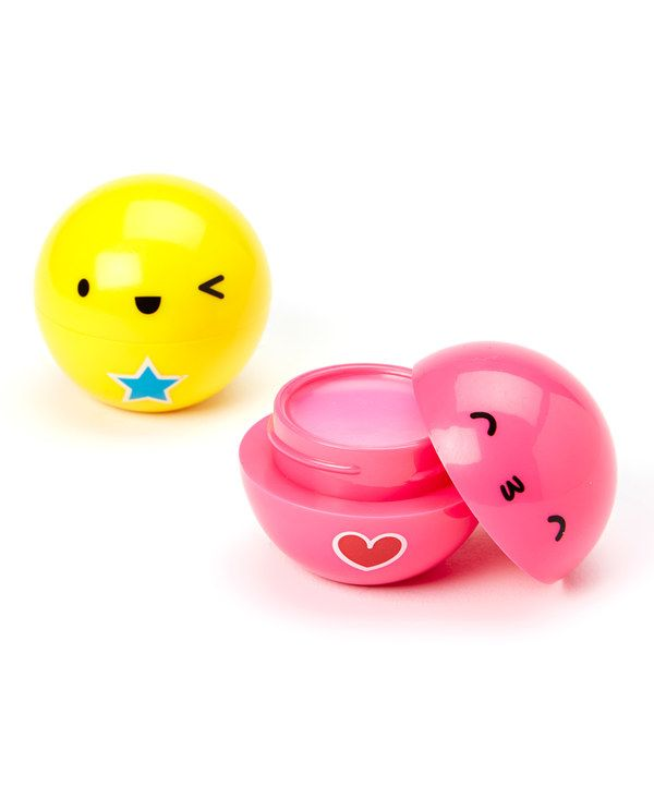 Look at this Tri-Coastal Design Rainbow Smile Lip Balm Pod - Set of Two on #zulily today!
