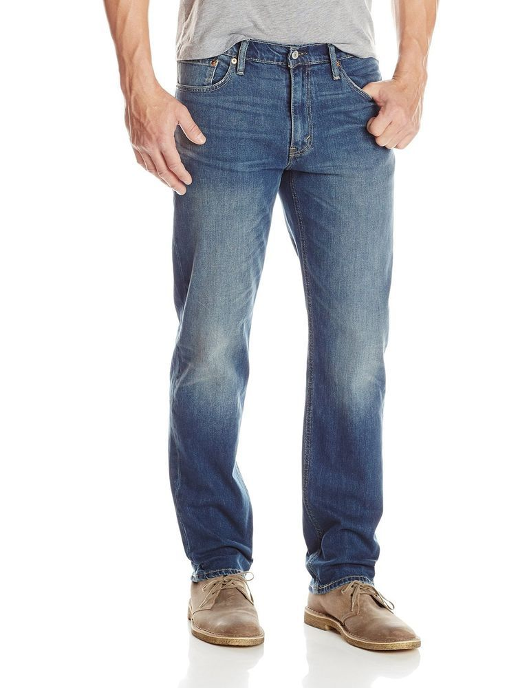 Levis 541 mens jeans athletic straight fit cotton blue