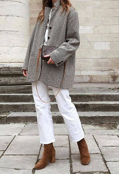 How to Wear White Jeans During Winter Months | mel