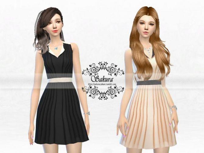 Little Summer Dress at Sakura Phan via Sims 4 Updates