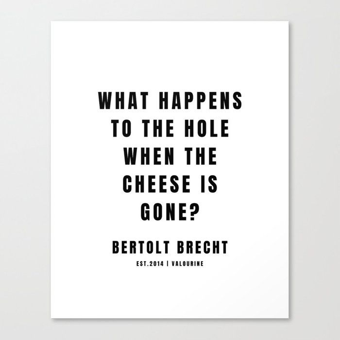 15 | Bertolt Brecht Quotes| 201223| Famous Quote Writer Literature German Poet Poem Philosophy| Author Of Life Of Galileo Canvas Print by Quotes And Sayings