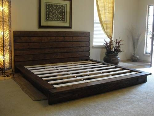 King bed from pallets! Okay! | bed ideas | Pinterest | Camas ...