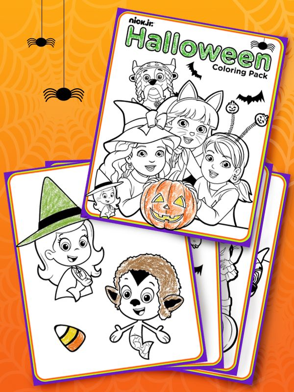 Printable Halloween Coloring Book With Nick Jr Friends Halloween Coloring Book Halloween Coloring Coloring Books