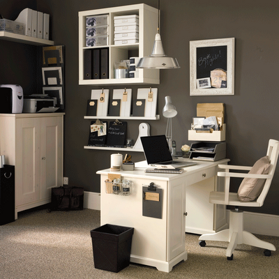 I love a well organized office  I m intrigued by the clipboard and     I love a well organized office  I m intrigued by the clipboard and items on  the side of the desk  I think vertical spaces are rarely well used in office
