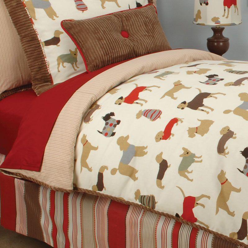 Doodlefish best friend duvet dog themed bedding puppy for Dog themed bedroom ideas