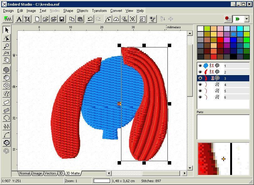 штриховой фото дизайн вышивки embird