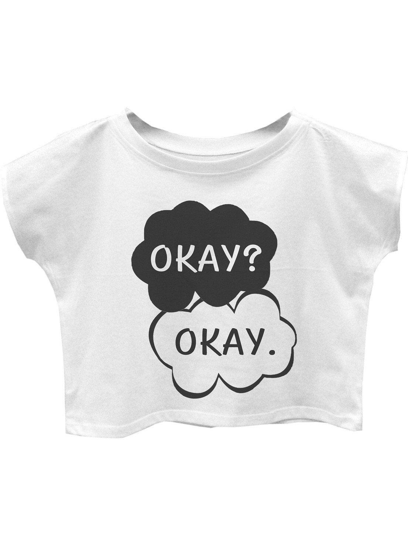 Okay, Okay tshirt women tshirt women crop top cropped tshirt size S by teetragen on Etsy https://www.etsy.com/listing/200806576/okay-okay-tshirt-women-tshirt-women-crop