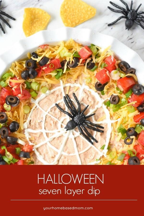 Halloween 7 Layer Dip #7layerdip