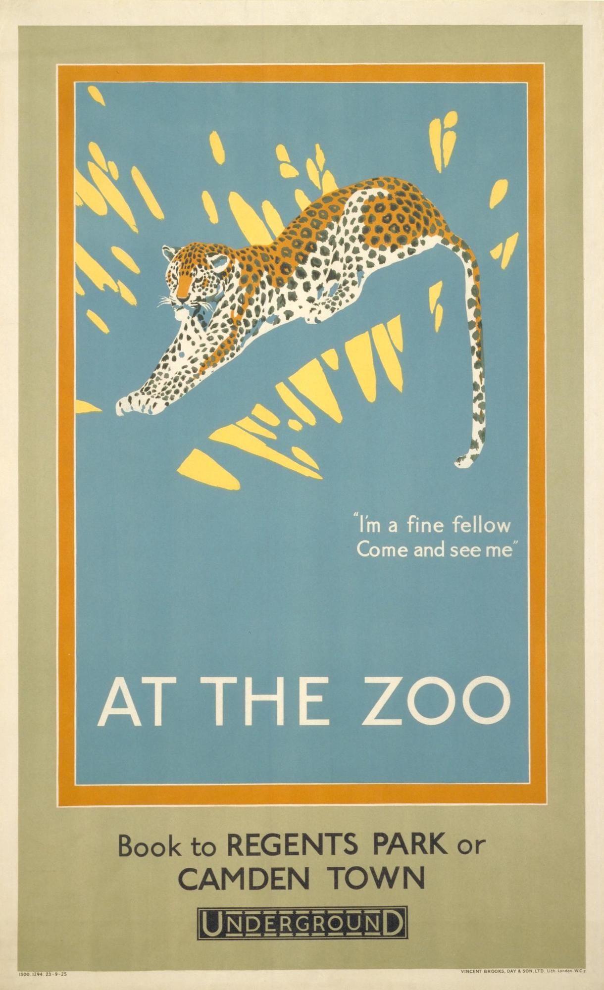 Vintage London Zoo Elephants Poster A4//A3//A2//A1 Print