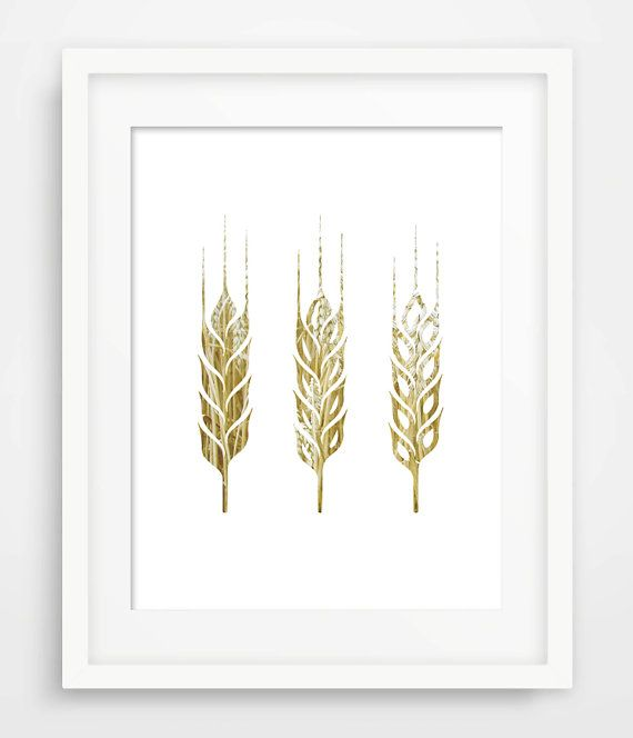 Wheat Photography Wall Art Poster 2 by BrightPixels on Etsy