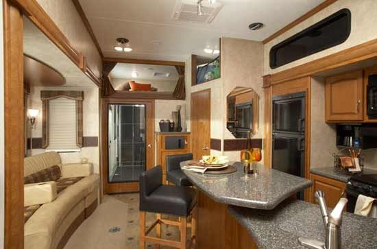 Keystone Raptor Fifth Wheel Toy Hauler Love The Bar Camping In Style Pinterest Toy
