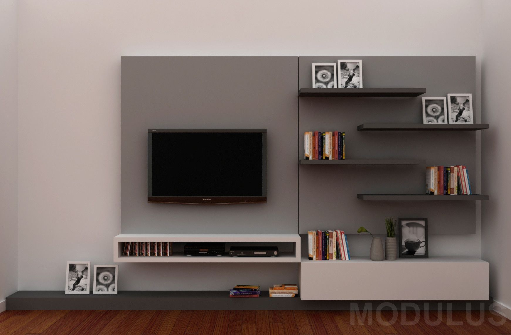Modulares Para Living Tv Lcd Led Wall Unit Muebles Para Tv  # Muebles Paco Duque