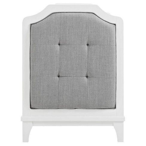 Baby Relax Luna 3 In 1 Upholstered Crib White White