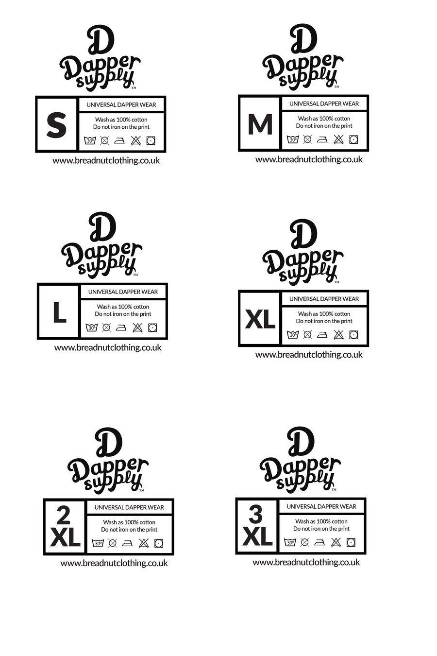 Clothing Care Label Template Entry 1 By Waqas17 For Design A T Shirt Size Labels Label Templates Clothing Care Label Custom Clothing Labels