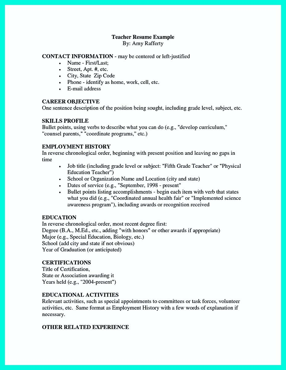 Resume Employment History Awesome Making Simple College Golf Resume With Basic But Effective