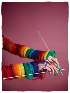 Rainbow knits!