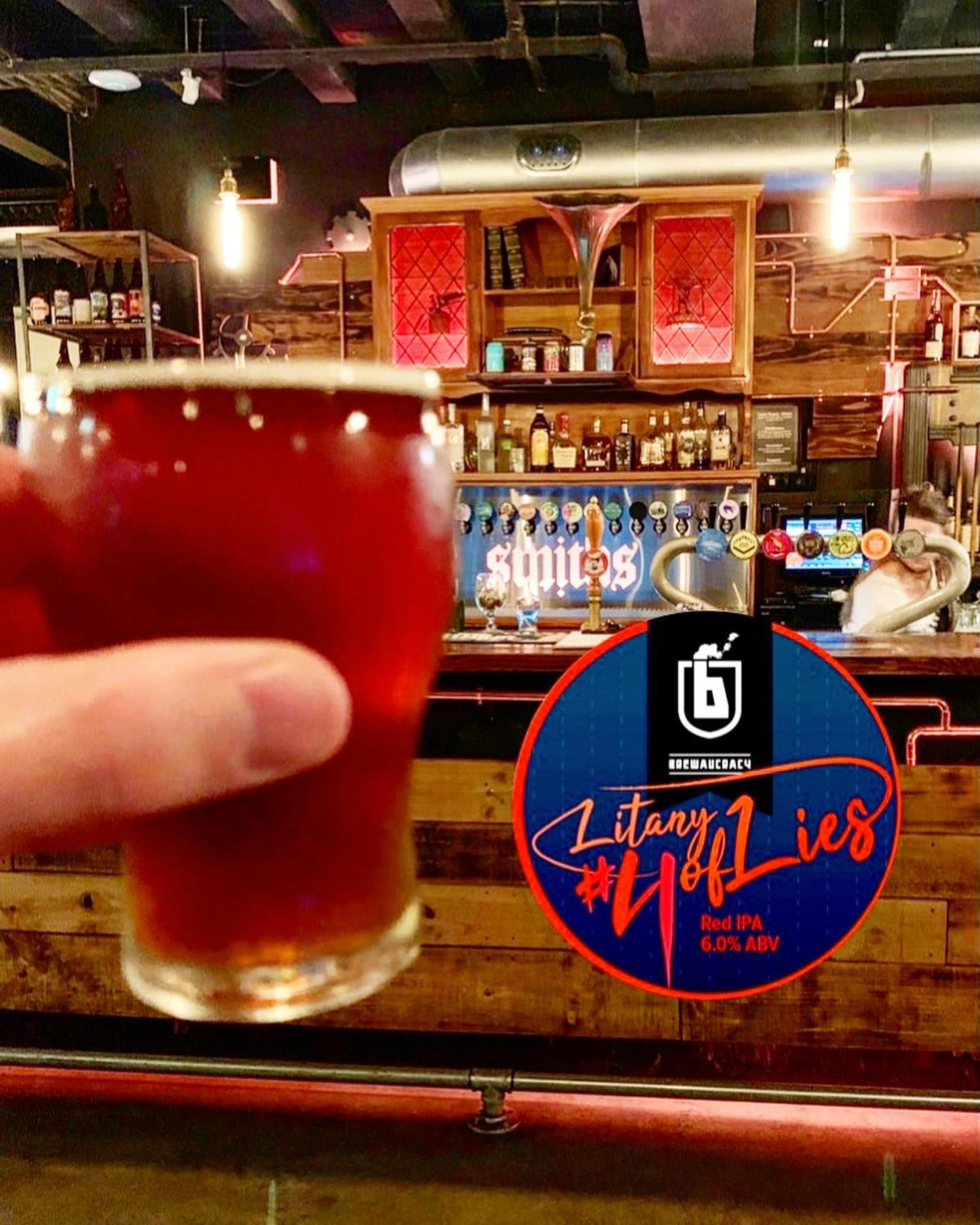 For You Today From My Last Smithscraftbeer Tasting Session I Have Brewaucracy Nz Hamilton Nz With Their Litany Of Lies Lie No4 Red Ip In 2020 Malt Aromatic Ipa