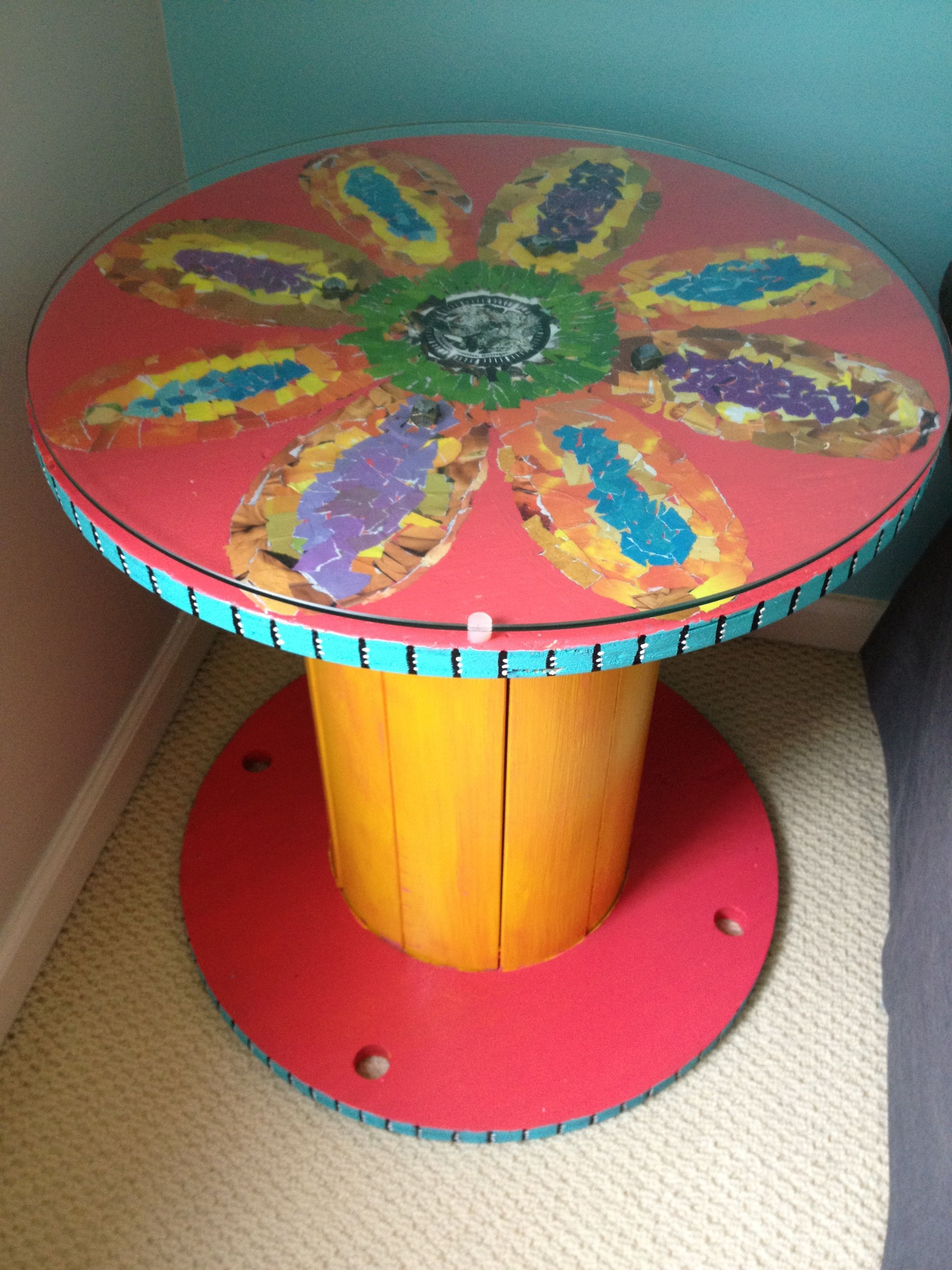 REPURPOSE - DIY -I made this out of a wooden cable spool ...