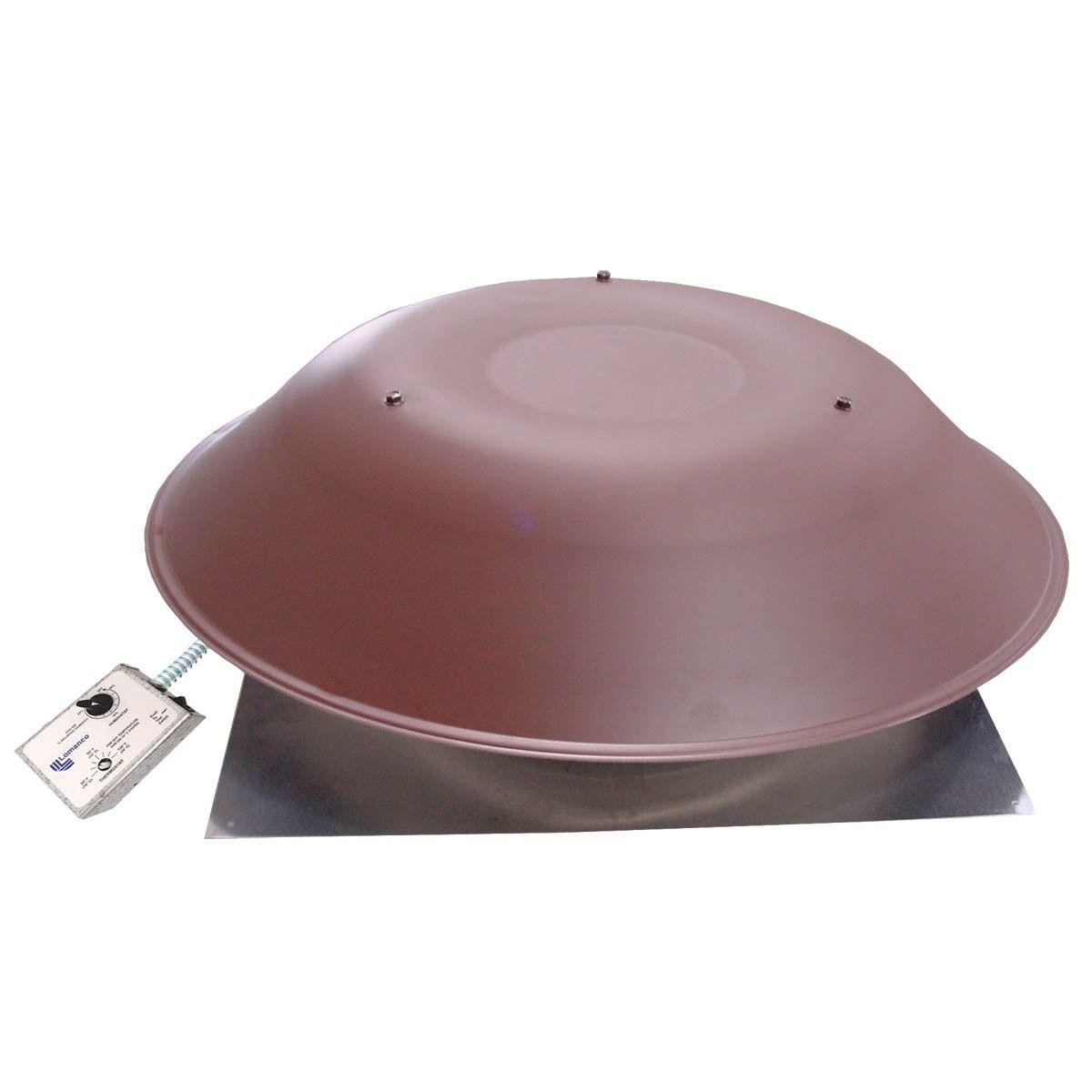 Lomanco 2000 Brown 3.4 Amp Brown Power Roof Ventilator (Ventilator Roof 3.4a) (Metal)