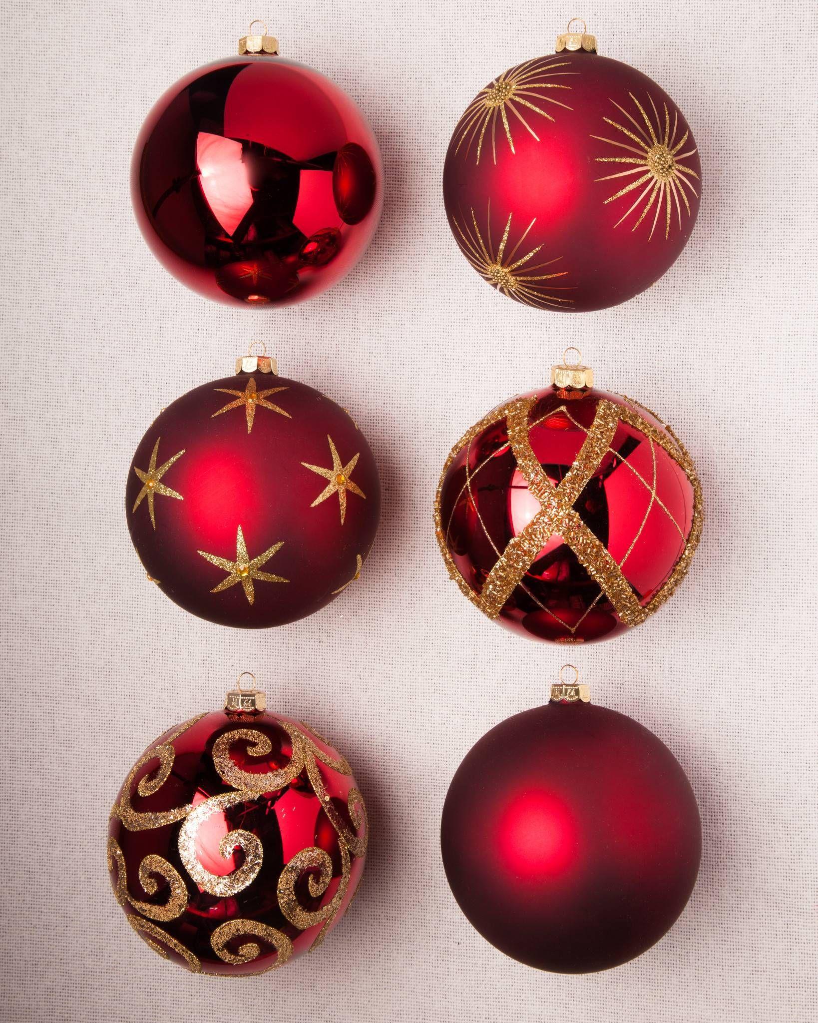 Brilliant Bordeaux Christmas Ornament Set Balsam Hill Christmas Ornament Sets Ornament Set Christmas Ornaments