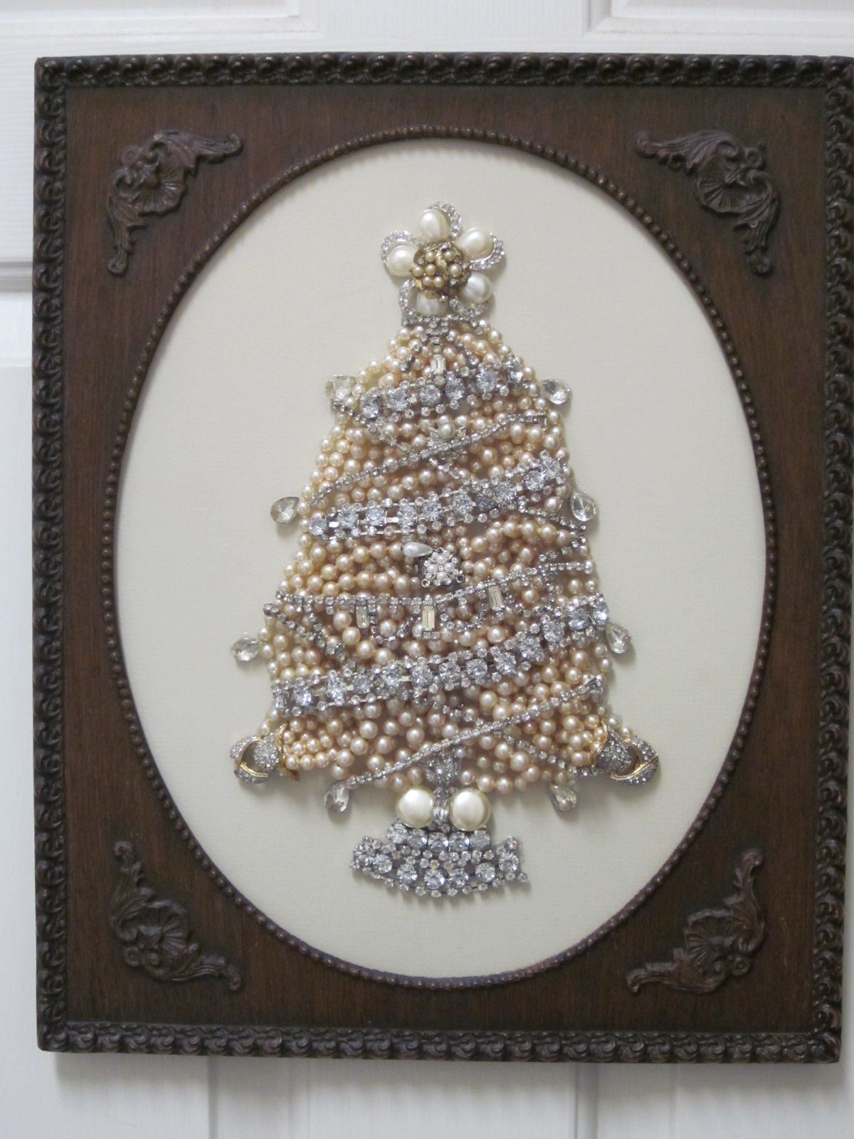 Christmas Tree Made From Pearl Jewelry My Jewelry Frames
