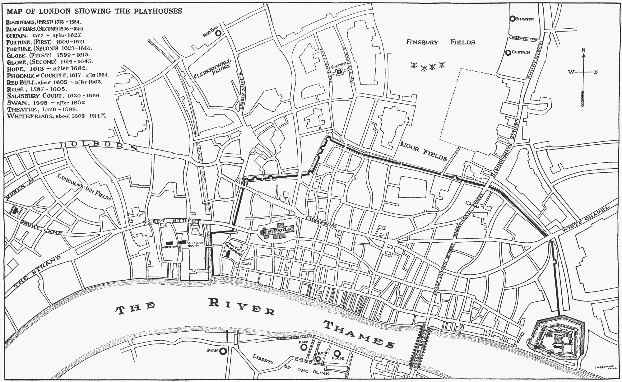 Map Of London 1600.Map Of London Theatres Early 17th Century All Souls Trilogy