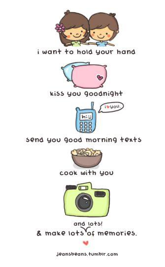 Jeansbeans Tumblr Cute Love Quotes Love Doodles Love Cartoon Couple