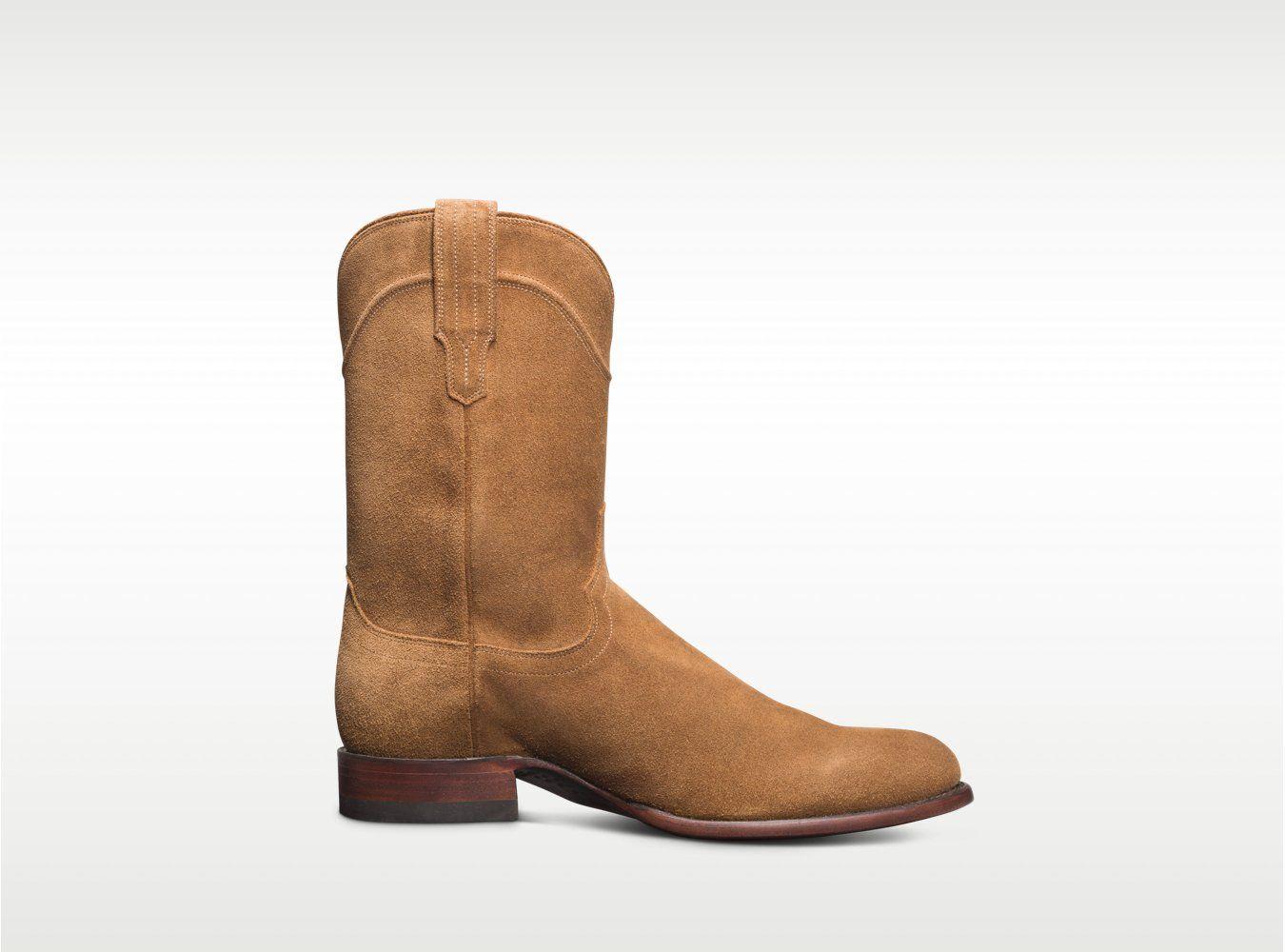 Men's Suede Roper Boots - Waterproof