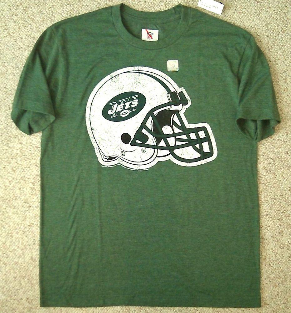 NEW vtg-fit NEW YORK JETS T-SHIRT Green&White NY Tee MENS SM(fits like med) NWT #NFLTeamAparel #NewYorkJets