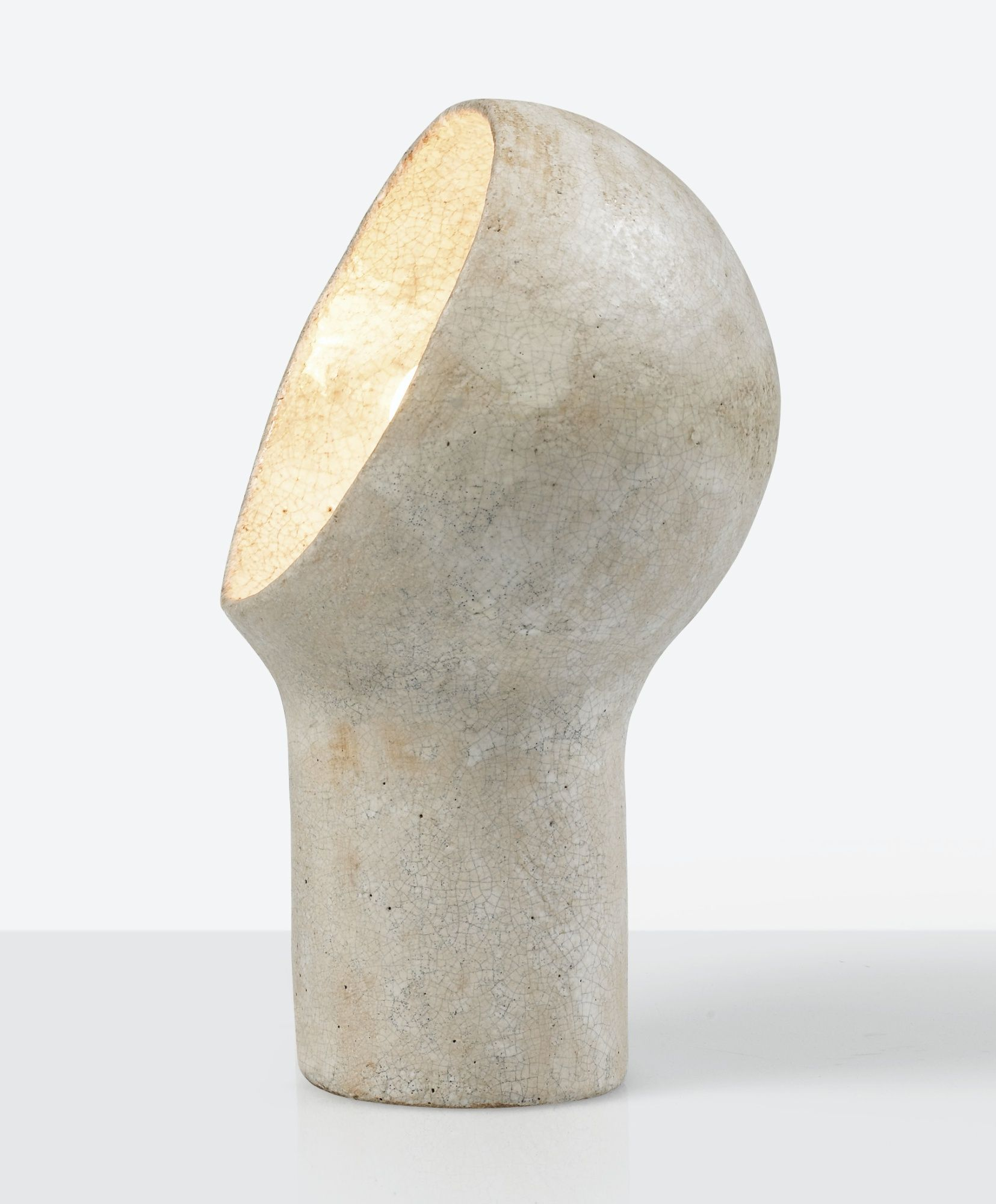 Andre Borderie Lampe Tete A Lumiere Vers 1960 Tete A Lumiere A White Glazed Ceramic Lamp Circa 1960 Ceramique Pottery Lighting Ceramic Light Ceramic Lamp