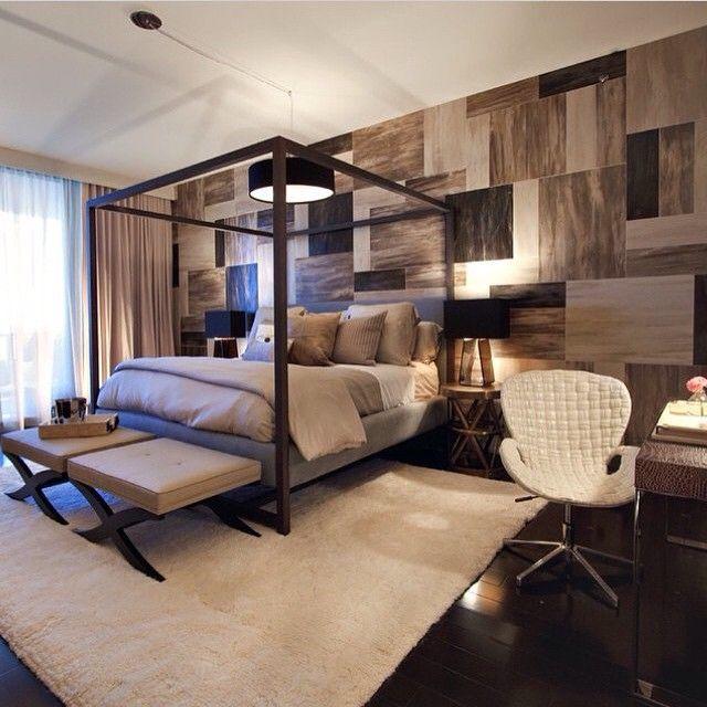 Moderna recámara con maderaInspírate con Gogetit! Modern bedroom - recamaras de madera modernas