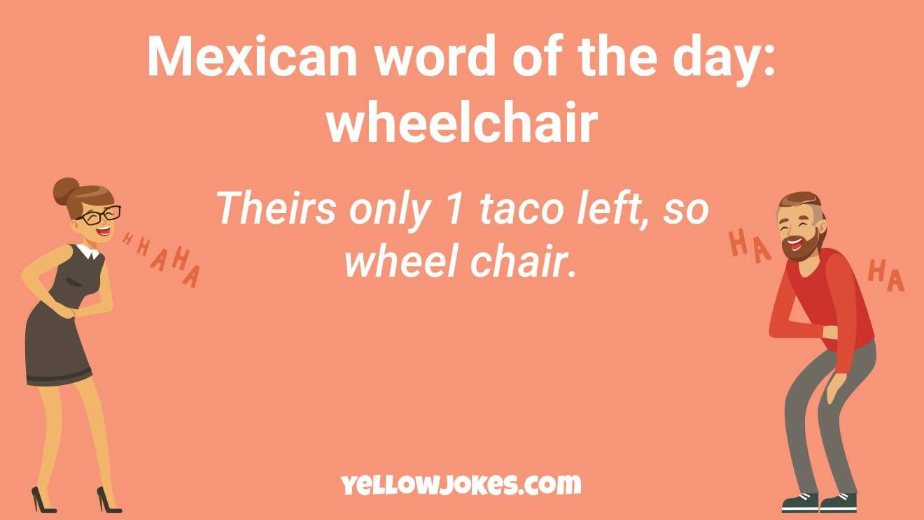 Hilarious Mexican Word Of The Day Jokes That Will Make You Laugh Mexican Words Word Of The Day Funny Words
