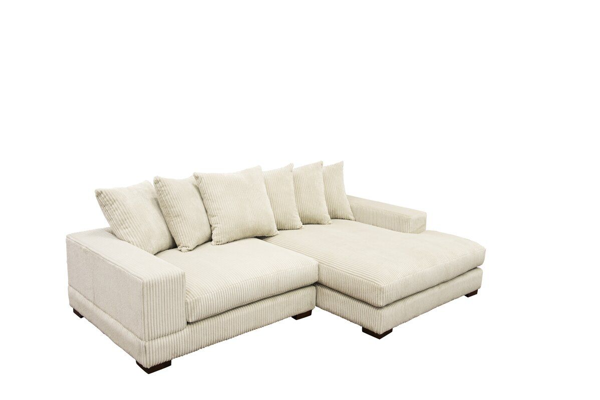 Fabulous Luxe Right Hand Facing Sectional Furniture Decor Dailytribune Chair Design For Home Dailytribuneorg
