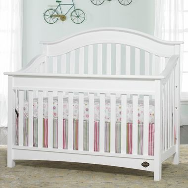 Bonavita Easton Lifestyle 4 In 1 Convertible Crib In Classic White