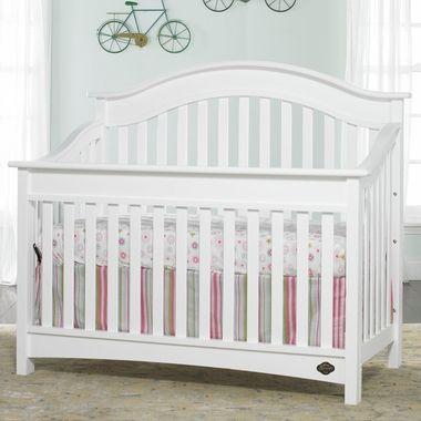 Bonavita Easton Lifestyle 4 In 1 Convertible Crib In Classic White