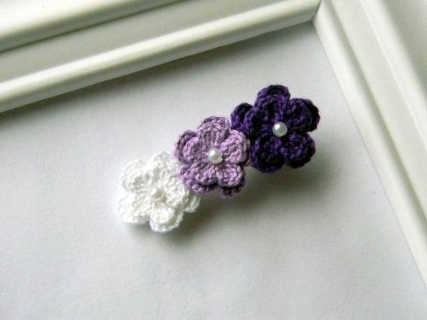 30 Free Crochet Flower Patterns Knitting Lovers #babyhairaccessories