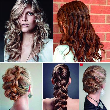 cabello con ondas trenza cascada trenza recogida chongo