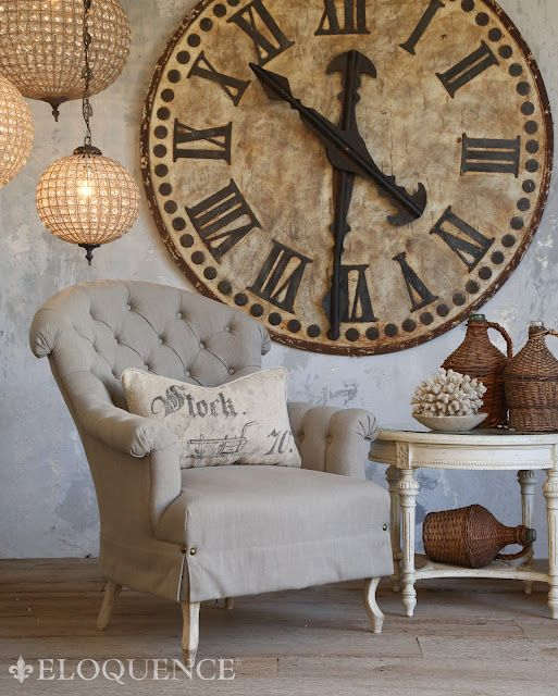 amazing clock - via the dove cote brocante