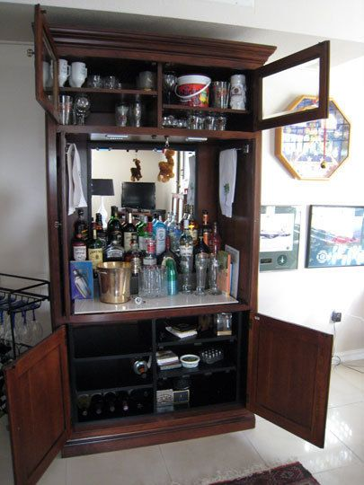 How To Repurpose An Outdated Tv Armoire Armoire Bar Tv