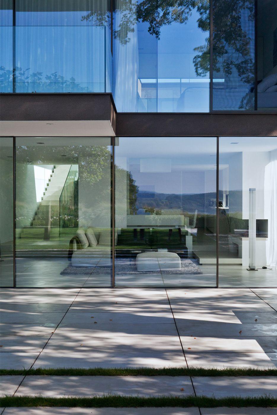 Sky Frame Fenster rahmenlose schiebetüren bembé und dellinger architekten greifenberg