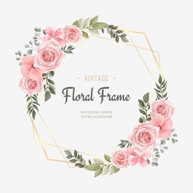 Background Pattern Flower Flyer Frame Wedding Watercolor Vintage Floral Invitation Card Flow In 2020 Flower Frame Watercolor Flower Vector Watercolor Flower Background