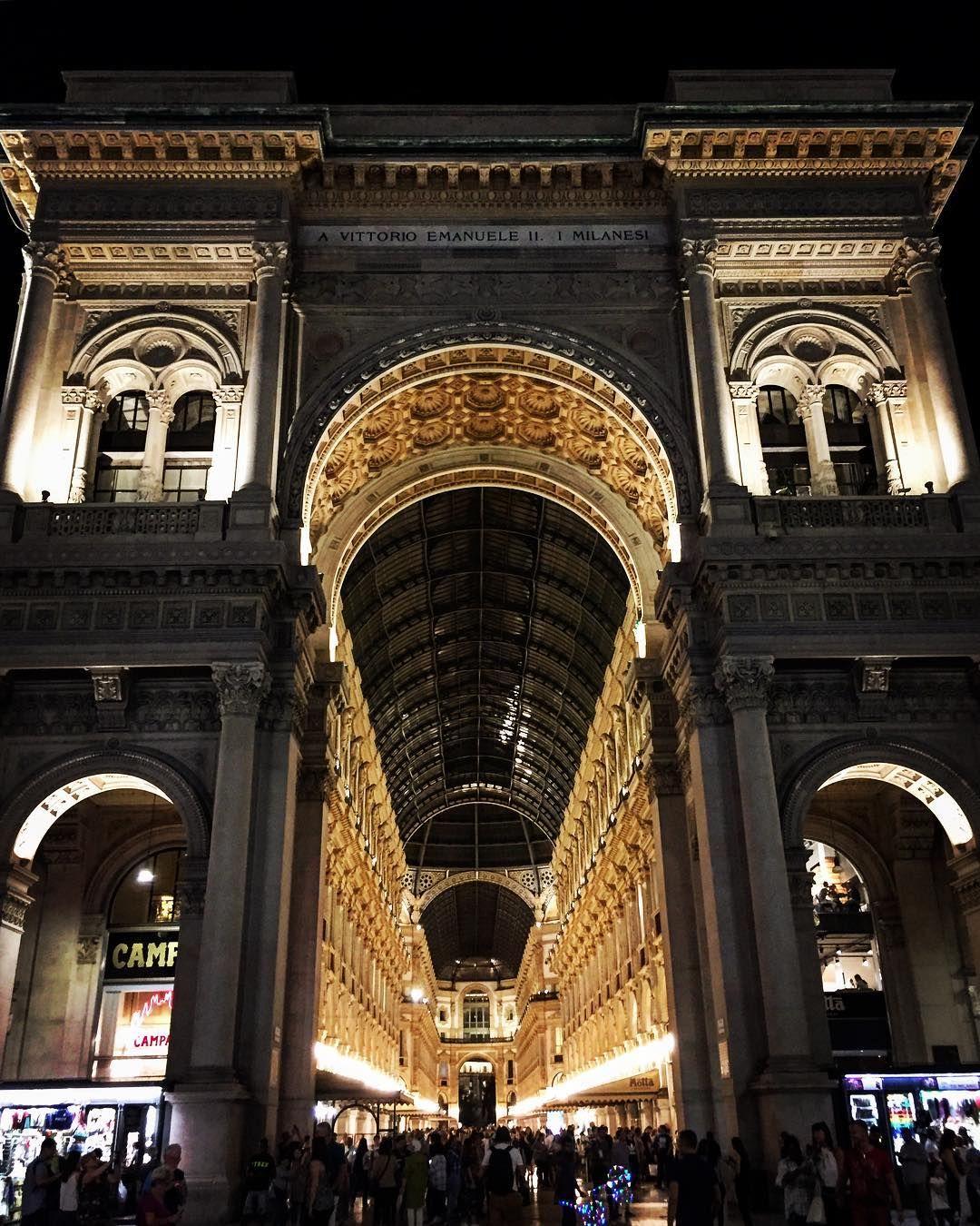 Galleria Vittorio Emanuele II in Milan at NightThe world's ...