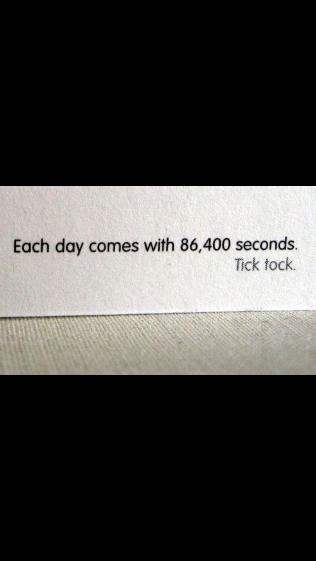 86000 Seconds Take That Take A Step Back Tick Tock