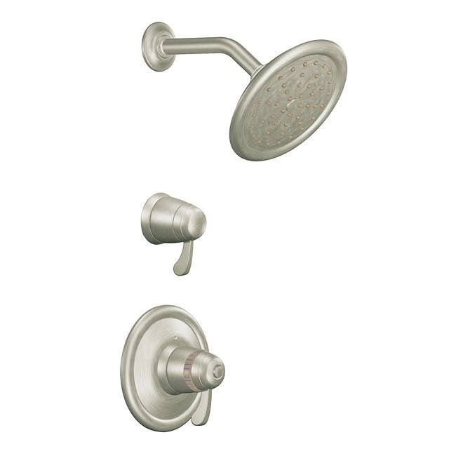 Moen Exacttemp 3 4 In Shower Trim Only With Showerhead Brushed