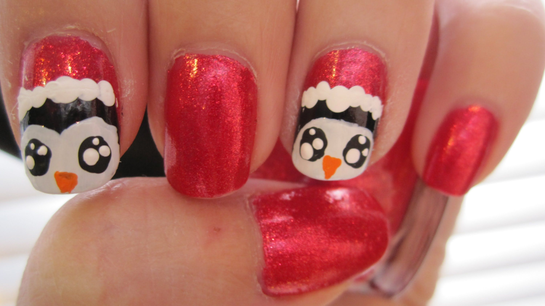 Santa Penguins Nail Art!   Nail Art - Christmas and Winter ...