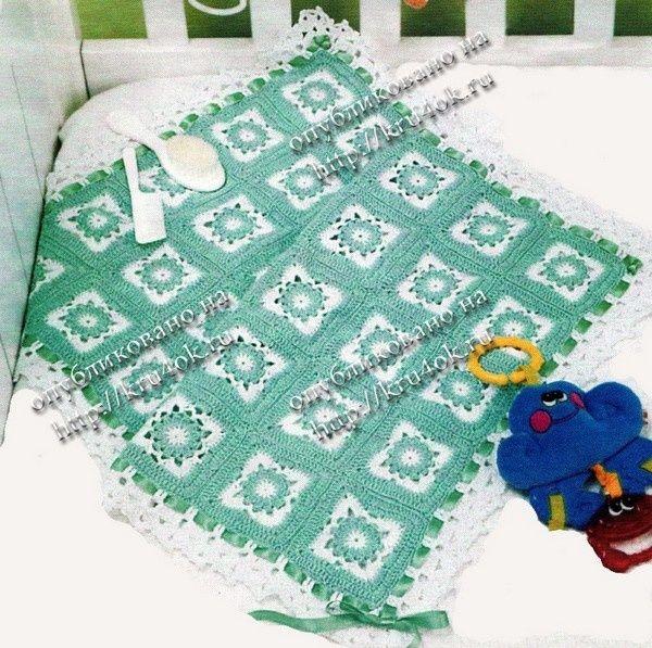 Patrones de mantillas de bebé | Ganchillo | Pinterest | Manta, Bebé ...