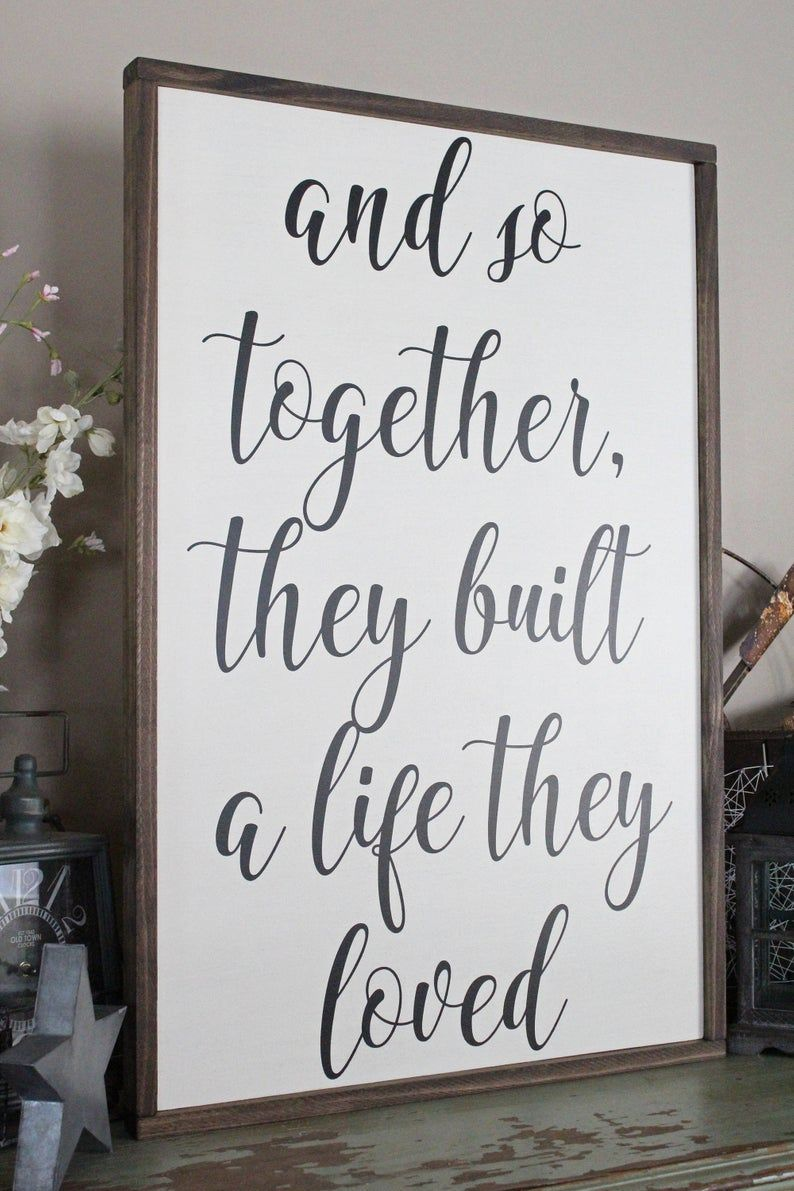 Download And So Together, They Built A Life They Loved Wood Sign ...