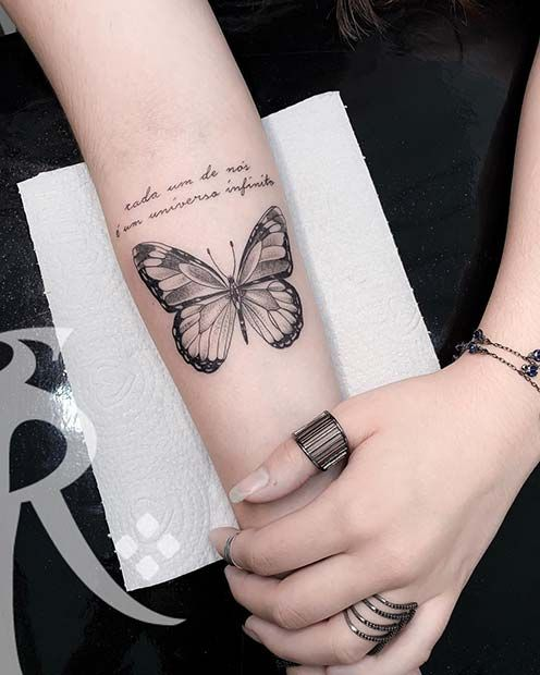 61 Pretty Butterfly Tattoo Designs and Placement Ideas | Page 2 of 6 | StayGlam